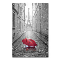 Eiffel Tower & Red Umbrella