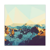 Fractal Mountain Sunset Wall Art Print, THE Studio