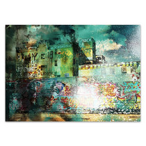 City Scrim A Wall Art Print