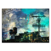 City Scrim B Wall Art Print