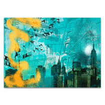 City Scrim C Wall Art Print