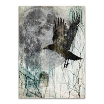 Full Moon Rising Wall Art Print