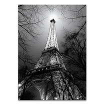 Black and White Eiffel Tower Wall Art Print
