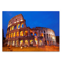 Rome Colosseum at Night Wall Art Print