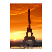 Sunset at Eiffel Tower Wall Art Print