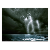Lighting over the Sea Wall Art Print