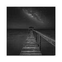 Milky Way over the Sea Wall Art Print