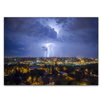 Night City Lightning Wall Art Print