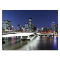 Brisbane City at Twilight Wall Art Print