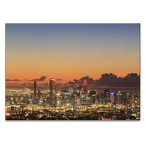 Brisbane City Sunrise Wall Art Print