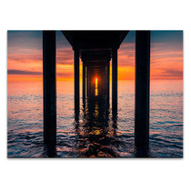 Sunset at Brighton Jetty Wall Art Print