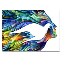 Bird Woman Face Wall Art Print