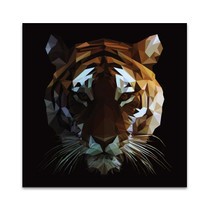 Digital Tiger Wall Art Print
