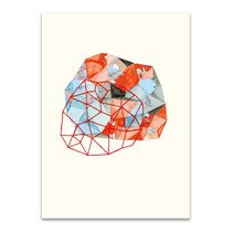 Embroidered Prism Collage VI Wall Print