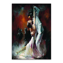 Couple Dancing Tango Wall Art Print