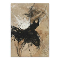 Dancer in Black Wall Art Print