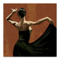 Lady Dancing Samba I Wall Art Print
