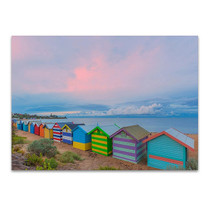 Bathing Box at Melbourne Wall Print