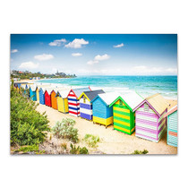 Beach Boxes Australia Wall Art Print