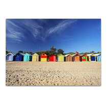 Brighton Beach Huts Wall Art Print