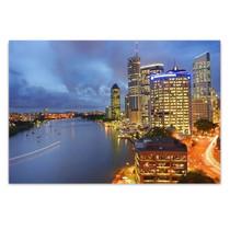 Brisbane City at Night Wall Art Print