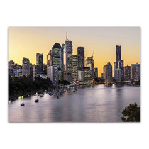 Brisbane City Riverside Wall Art Print