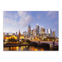 Lights of Melbourne City Wall Art Print