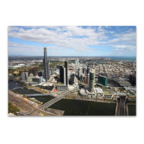 Melbourne Aerial View Wall Art Print