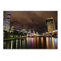 Melbourne City Buildings Wall Art Print
