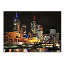 Melbourne City Lights Wall Art Print