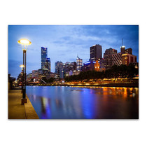 Melbourne Skyline Wall Art Print