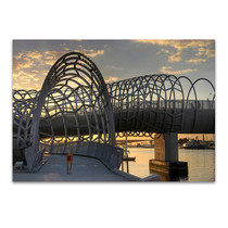Melbourne Webb Bridge Australia Wall Print