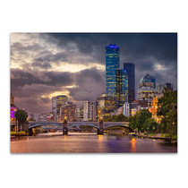 Summer Sunset Melbourne Wall Art Print