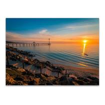 Sunset at Brighton Beach Wall Art Print