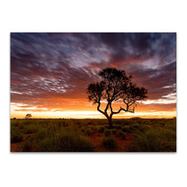 Sunset at Pilbara Region Wall Art Print