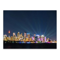 Sydney at Night Wall Art Print