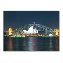 Sydney Harbour Bridge at Night Wall Print