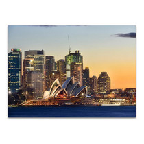 Sydney Opera House on Sunset Wall Print
