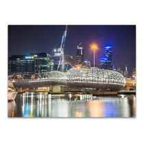 Webb Bridge at Melbourne Wall Art Print