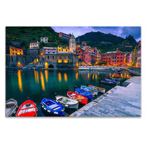 Italy Vernazza Village Wall Art Print