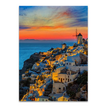 Santorini Oia Village Wall Art Print