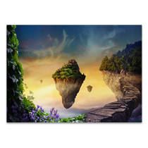Floating Magical Island Wall Art Print