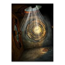 Mystical Metal Clock Wall Art Print