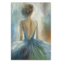 Lady in Blue Wall Art Print