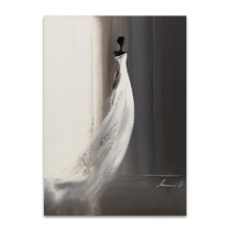 White Long Dress I Wall Art Print