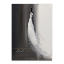 White Long Dress II Wall Art Print