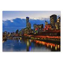 Yarra River Night Scene Wall Art Print