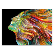 Colourful Face Wall Art Print