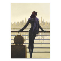 Woman Looking Out Wall Art Print