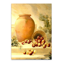 An Urn with Apples Wall Art Print